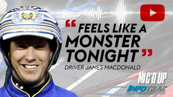 """Feels like a monster tonight"" by Diver James Macdonald at Mic'd Up presented by Infotrac"
