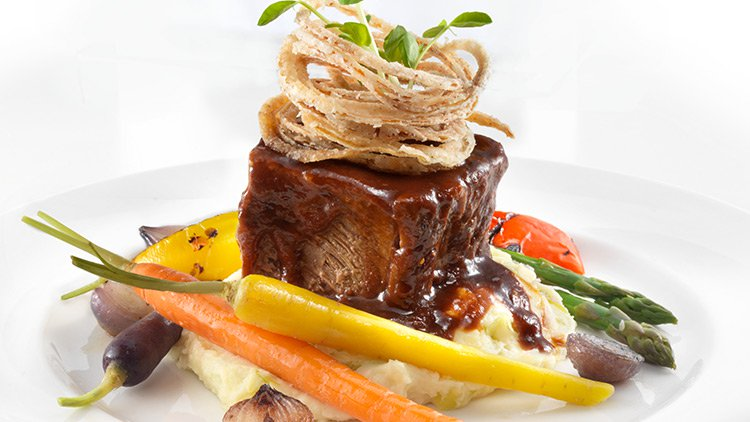 Short rib served at Mohawk Harvest Kitchen at Woodbine Mohawk Park