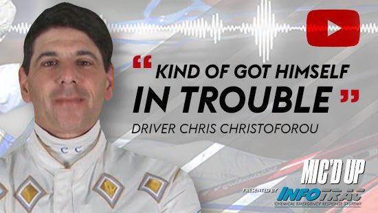 """Kind of got himself in trouble"" by Diver Chris Christoforou at Mic'd Up presented by Infotrac"
