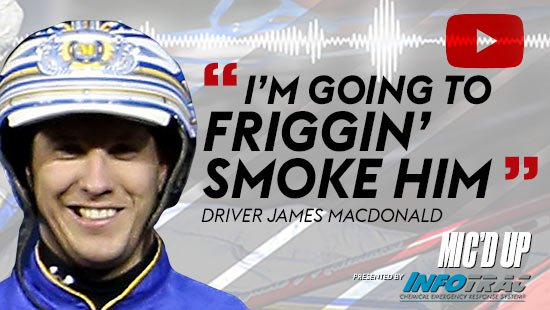"""I'm going to friggin smoke him"". Driver James MacDonald doing the Mic'd Up session on December 10, 2020"