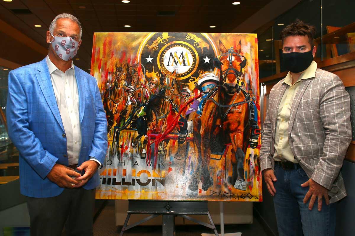 Jim Lawson, CEO Woodbine Entertainment with a Mohawk Million 2020 portrait