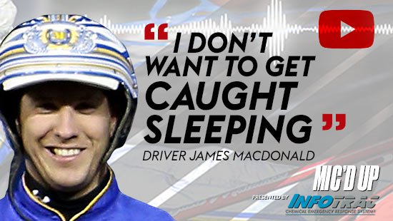 """I don't want to get caught sleeping"". Driver James MacDonald doing the Mic'd Up session on December 23, 2020"