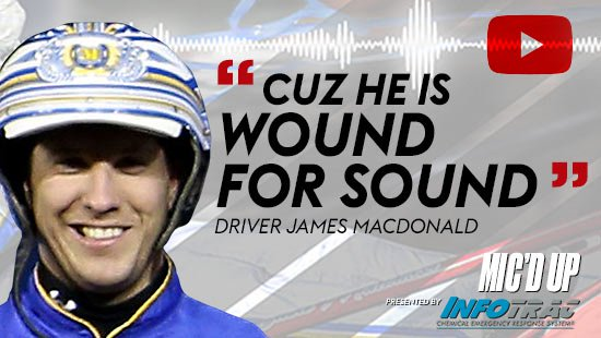 """Cuz he is wound for sound"". Driver James MacDonald doing the Mic'd Up session on December 23, 2020"
