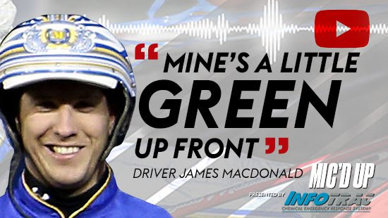 """Mine's a little green up front"". Driver James MacDonald doing the Mic'd Up session on March 4, 2021"