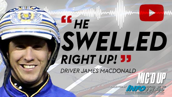 """""""He swelled right up!"""". Driver James MacDonald doing the Mic'd Up session on May 13, 2021"""