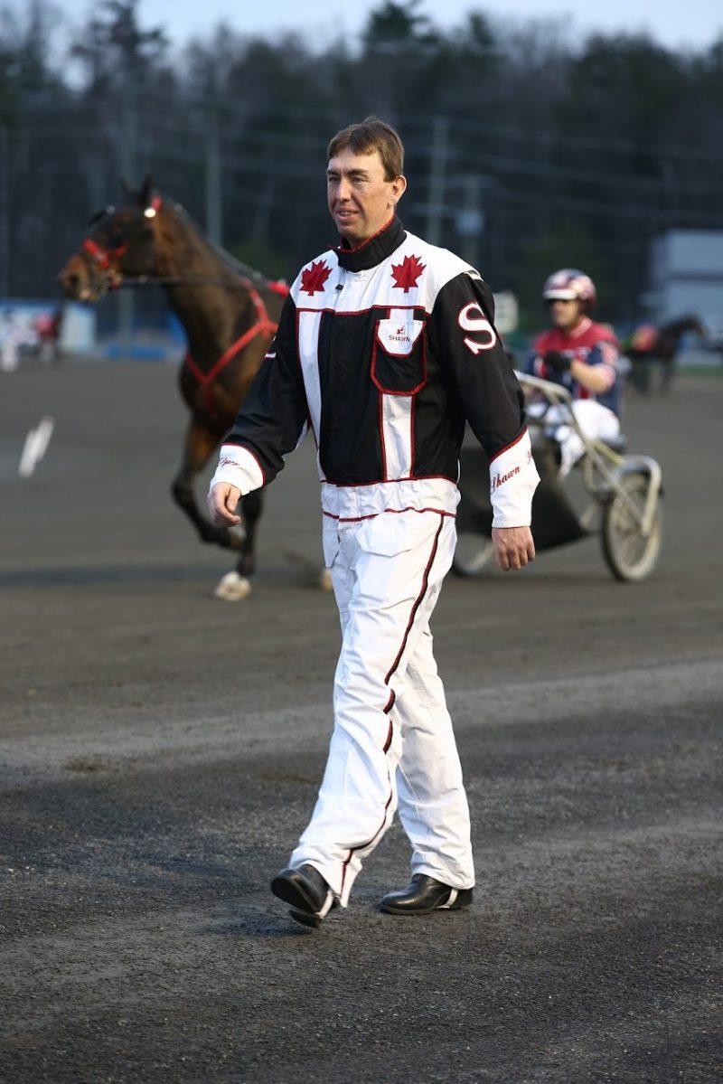 Shawn Steacy walking to the winner's circle.