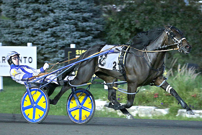 Prohibition Legal scores in the 2021 Shes A Great Lady elimination with driver James McDonald. (New Image Media)