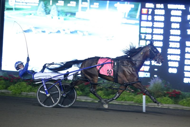 Allywag Hanover and Todd McCarthy winning the Canadian Pacing Derby on September 4.
