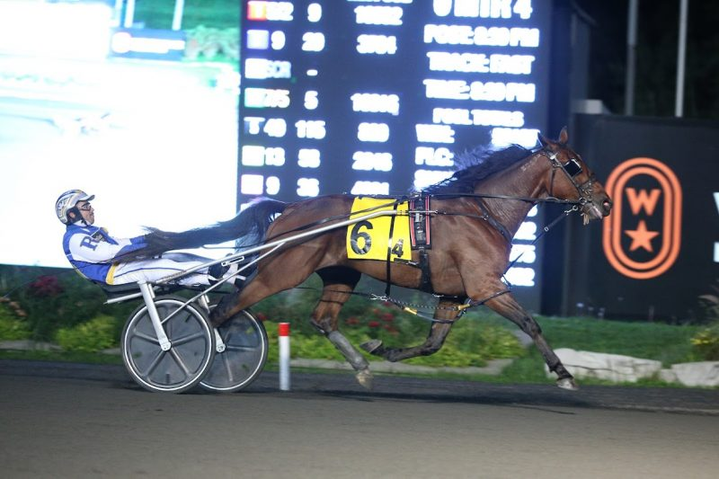 Inaminute Hanover goes wire-to-wire to pull off the 13-1 upset in the 2021 Simcoe at Woodbine Mohawk Park. (New Image Media)