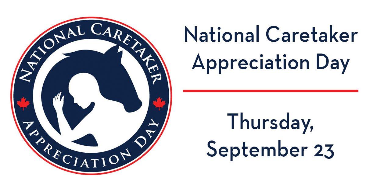 National Caretaker Appreciation Day. Thursday, September 23.