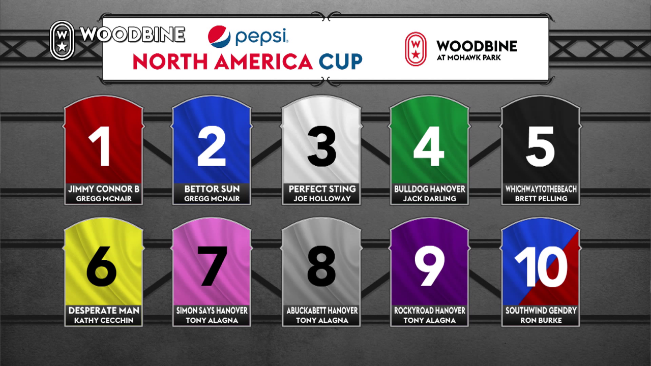 Pepsi North America Cup post-position draw result.