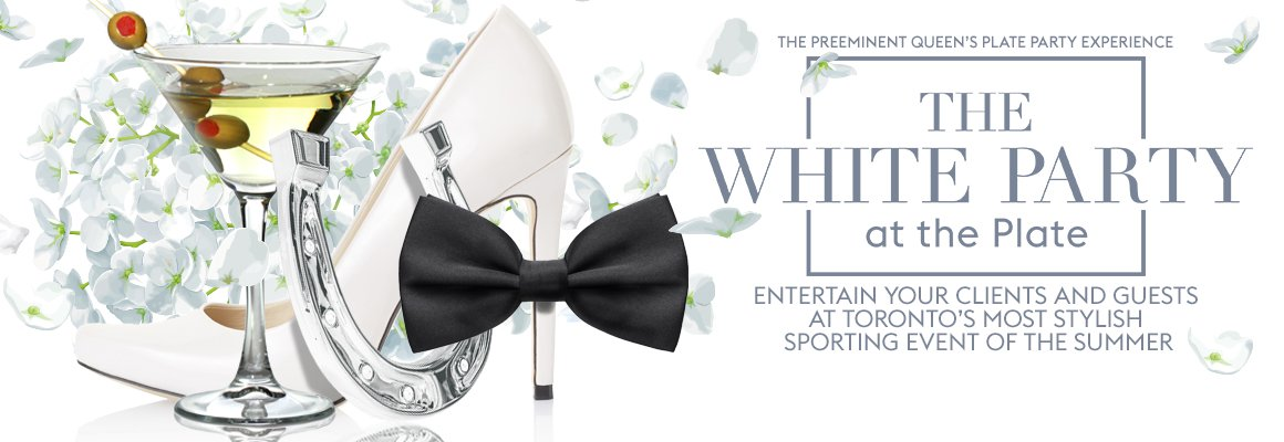 White Party at Queen's Plate on June 27, 2020 at Woodbine Racetrack