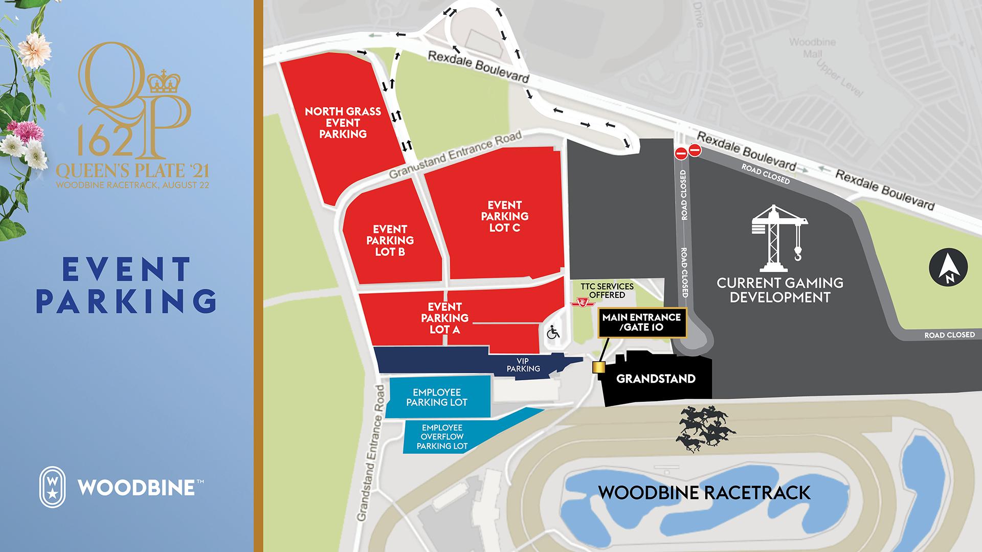 2021 Queen's Plate Parking map