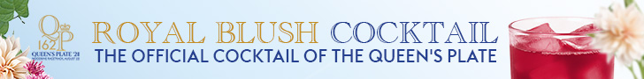 Royal Blush Cocktail, the official cocktail of the Queen's Plate