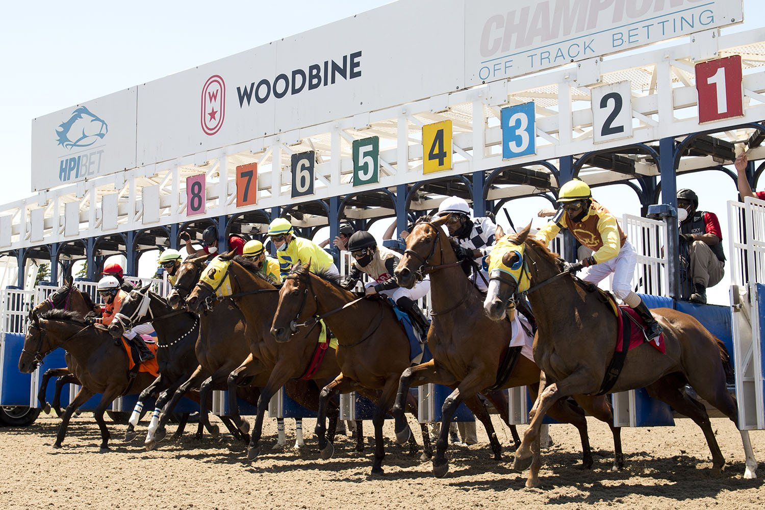 The 2021 Thoroughbred meet kicked off on Saturday afternoon at Woodbine Racetrack. (Michael Burns Photo)