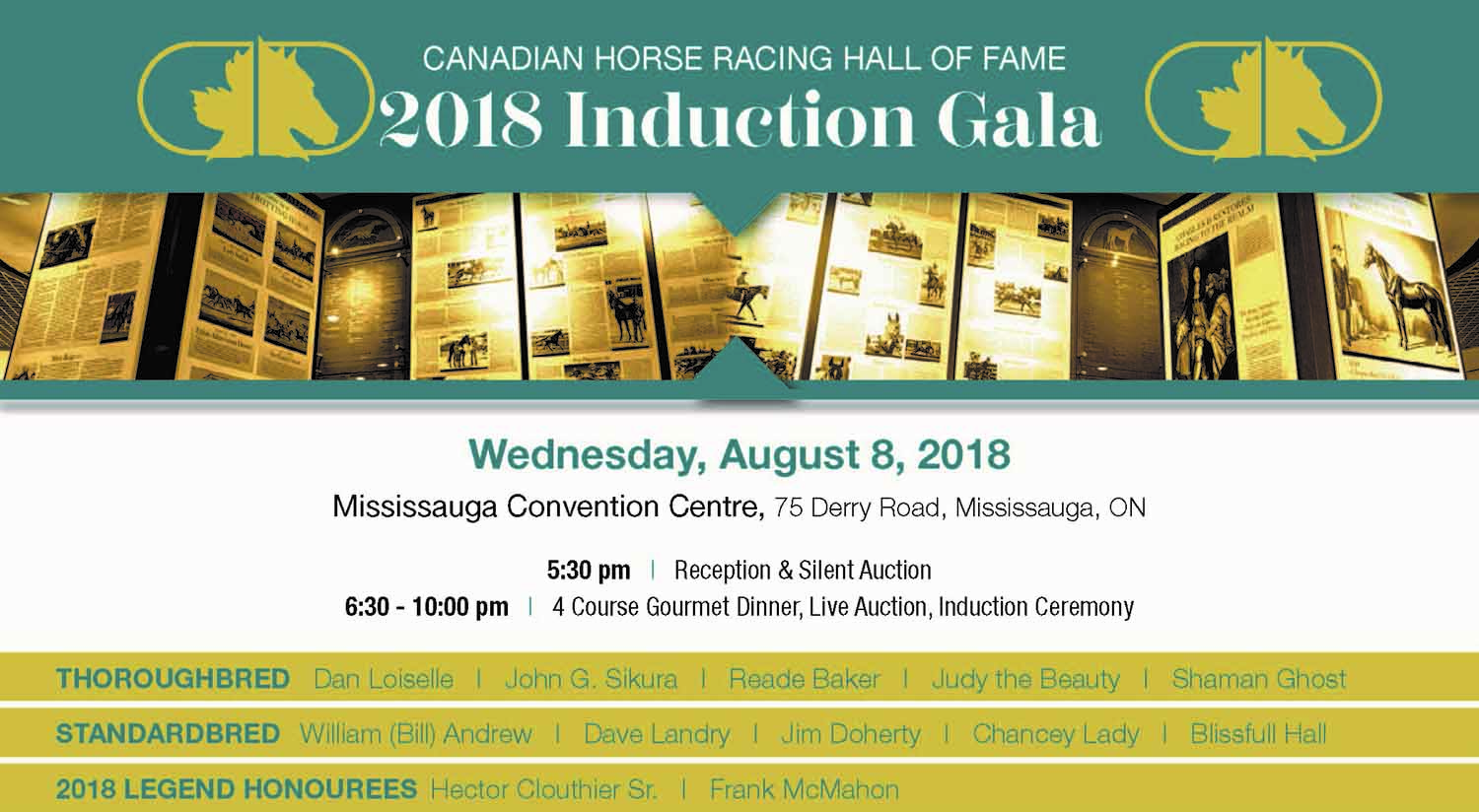 Last Call for 2018 Induction Gala Tickets- Order by August 3