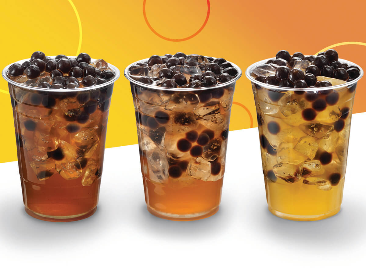 Three classic teas from ProsperiTEA Bubble Tea Shop at Woodbine Racetrack