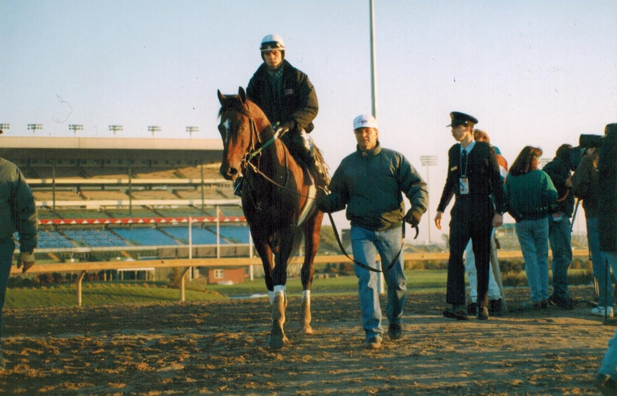 Cigar ahead of the 1996 Breeders Cup