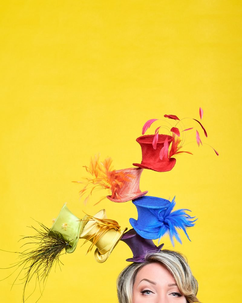 """A sample of David Dunkley's """"Heads Up"""" collection for this year's Queen's Plate."""