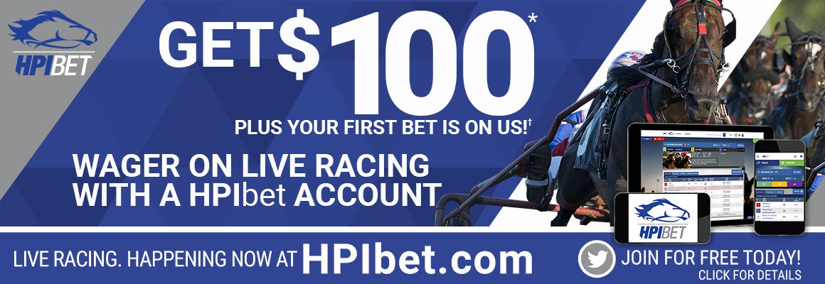 Get $100 Plus your first Bet on Us! Wager on live racing with a HPIbet Account. Join for free today. Desktop version.