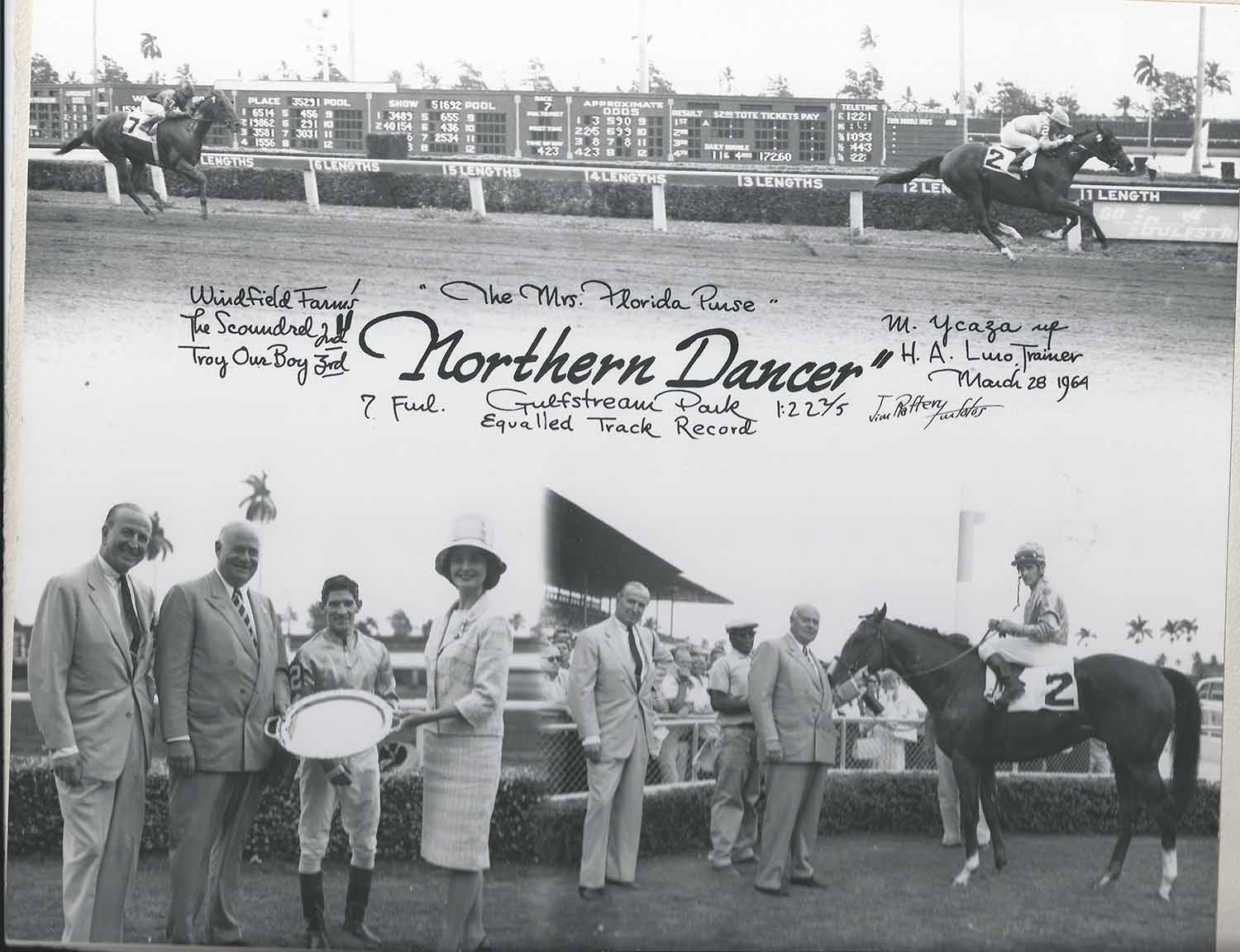 Ycaza and Northern Dancer (Provided by the Woodbine Archives)