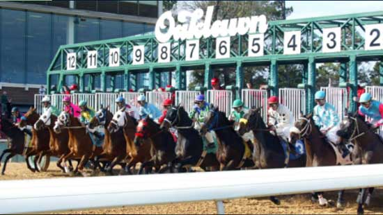 Oaklawn Park, a one-mile thoroughbred track located in Hot Springs, Arkansas.