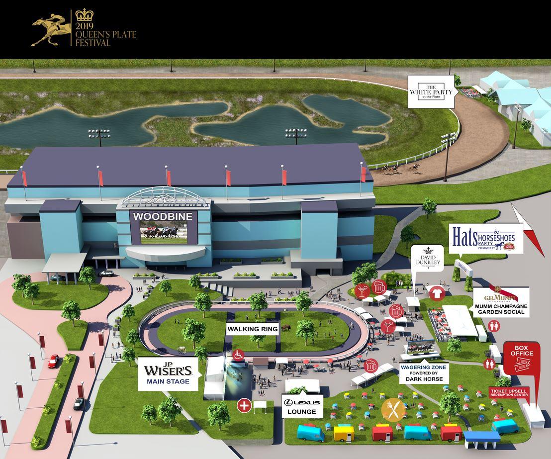 Woodbine Casino Map Queens Plate Map Woodbine R   Woodbine Racetrack