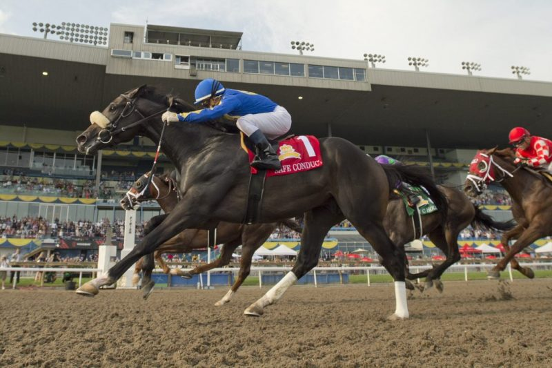 Safe Conduct captures the 2021 running of the Queens Plate at Woodbine. (Michael Burns Photo)