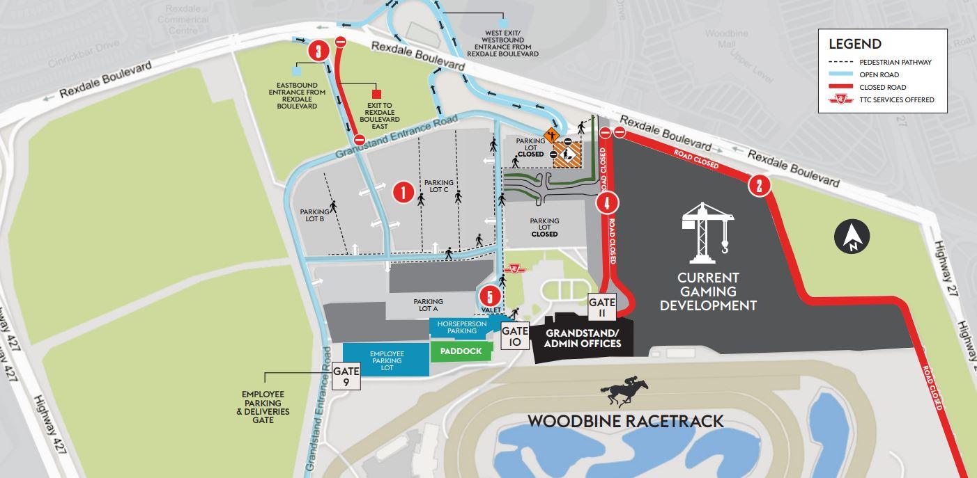 Woodbine Construction Map