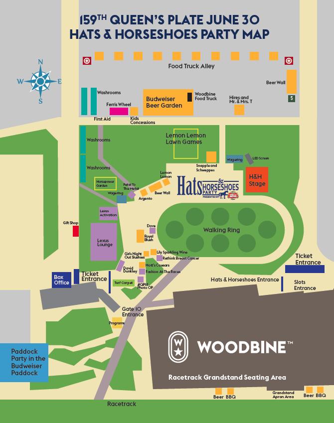 Woodbine Casino Map Map Saturday   Woodbine Racetrack